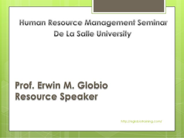 Human Resource Management Seminar