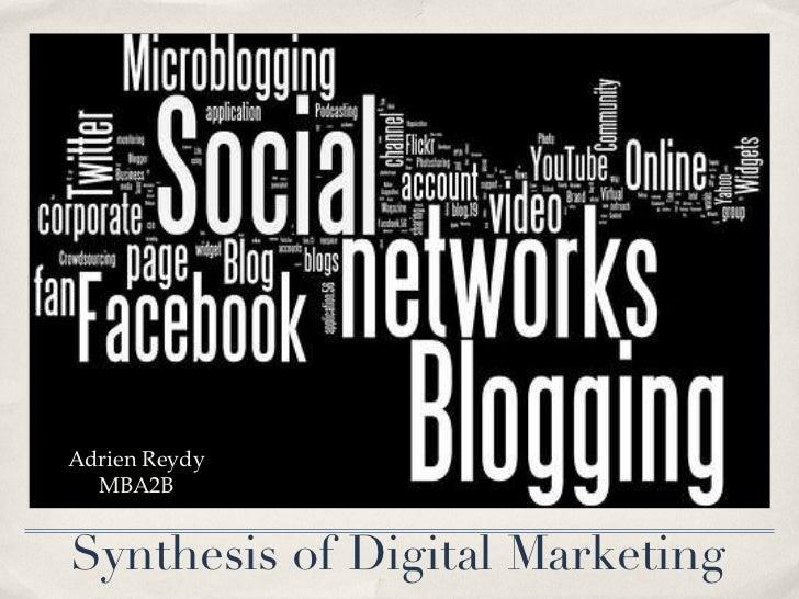 Synthesis of Digital Marketing Adrien Reydy MBA2B
