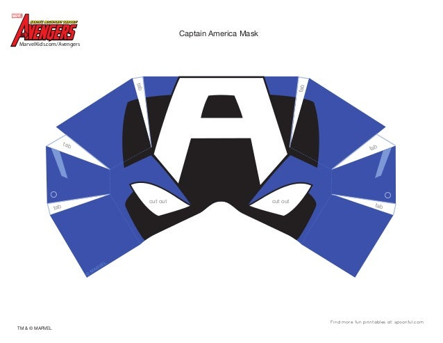 Dm avenger captain america mask printable 0910 for Avengers mask template