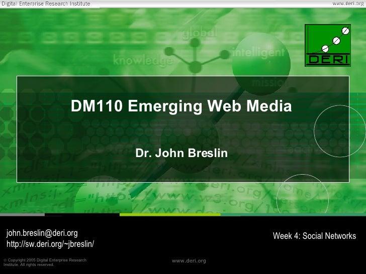 DM110 - Week 4 - Social Networks