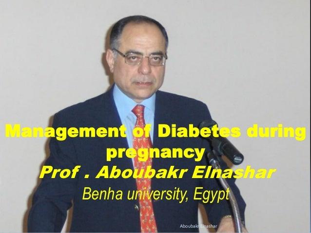 Management of diabetes during pregnancy