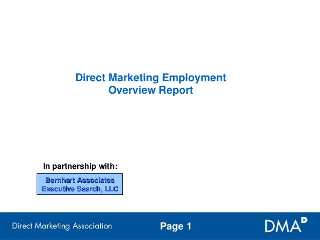 Benhart Associates/DMA Employment Outlook Report