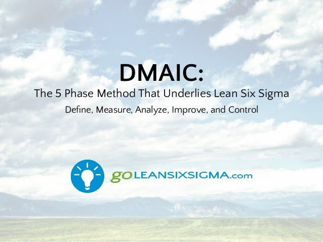 DMAIC: The 5 Phase Method That Underlies Lean Six Sigma Define, Measure, Analyze, Improve, and Control