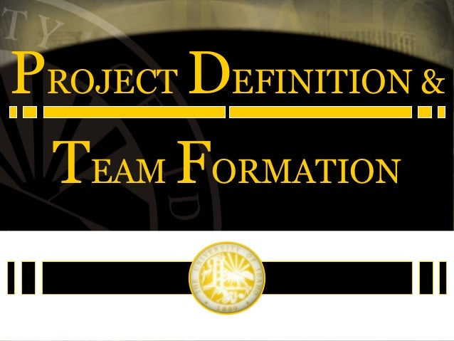 PROJECT DEFINITION & TEAM FORMATION