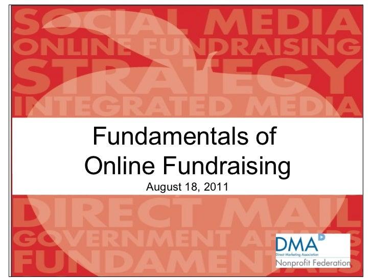 Fundamentals of online fundraising