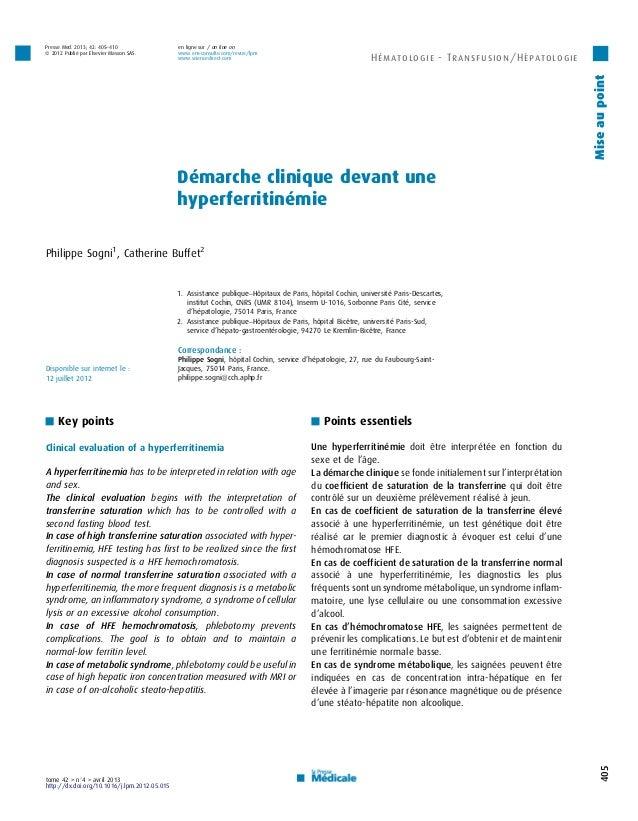 Presse Med. 2013; 42: 405–410                 en ligne sur / on line onß 2012 Publié par Elsevier Masson SAS.        www.e...
