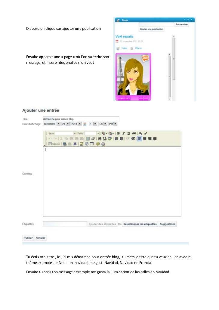D'abord on clique sur ajouter une publicationEnsuite apparait une « page » où l'on va écrire sonmessage, et insérer des ph...