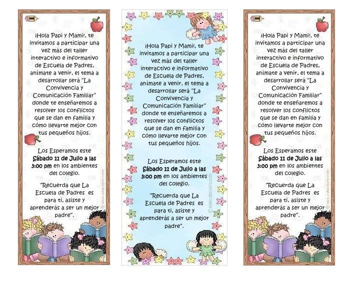 Carta De Escuela Para Padres
