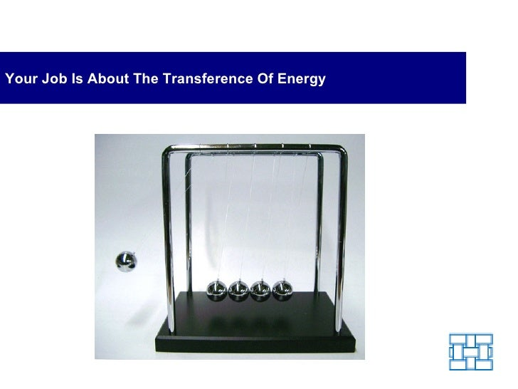 Your Job Is About The Transference Of Energy