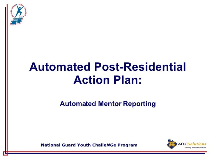 Automated Post-Residential Action Plan: Automated Mentor Reporting