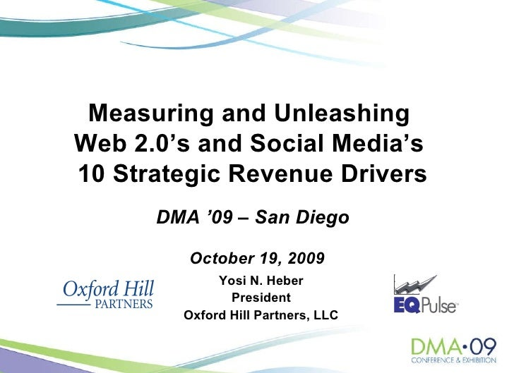 Yosi N. Heber President Oxford Hill Partners, LLC October 19, 2009 Measuring and Unleashing  Web 2.0's and Social Media's ...