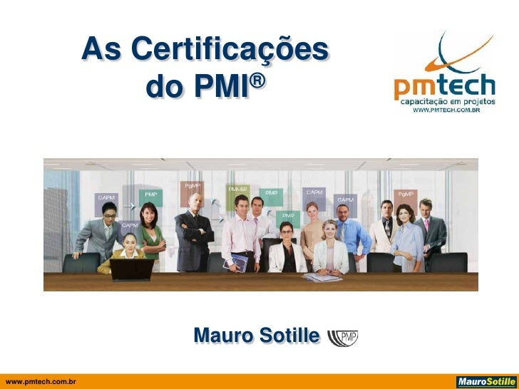 As certificações do PMI