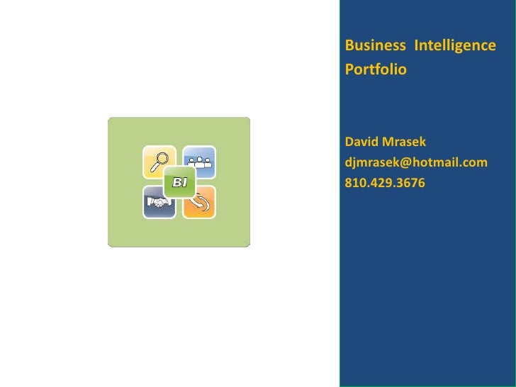 Business Intelligence Project Portfolio
