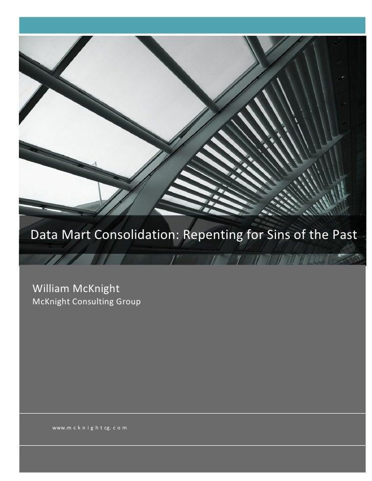 Data mart consolidation