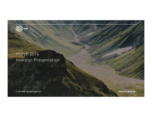 Dmc ir presentation
