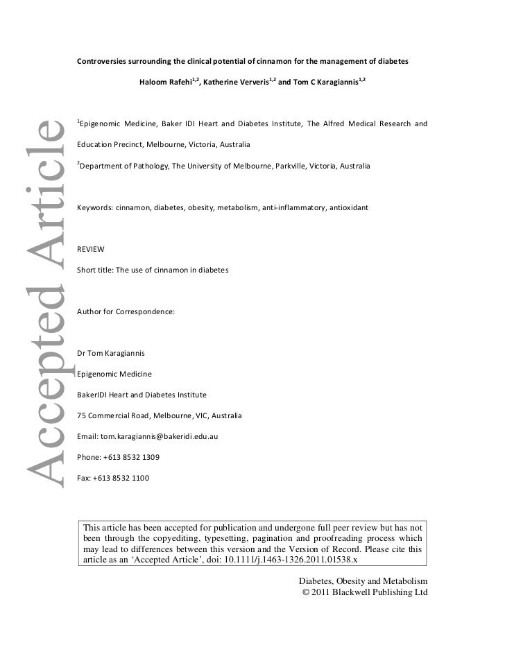Controversiessurroundingtheclinicalpotentialofcinnamonforthemanagementofdiabetes                 HaloomRafeh...