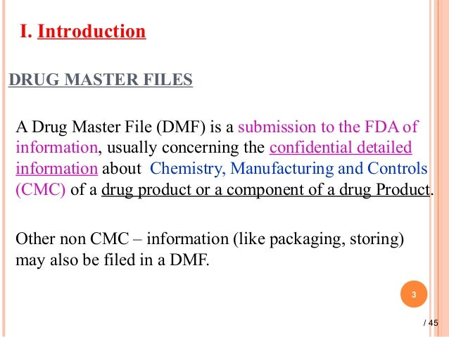 drug master file We are all aware, that the united states food and drug administration (usfda) has extended compliance date for drug master files (dmfs) to be submitted in electronic.