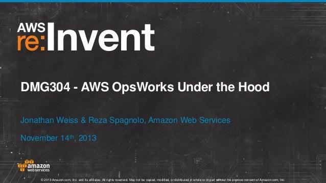 DMG304 - AWS OpsWorks Under the Hood Jonathan Weiss & Reza Spagnolo, Amazon Web Services November 14th, 2013  © 2013 Amazo...