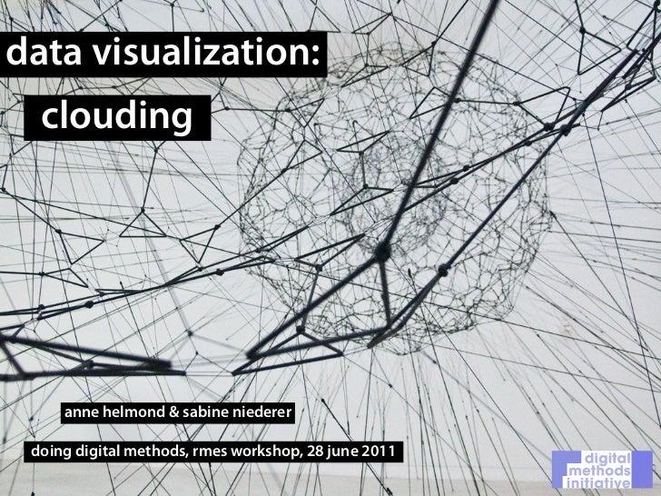data visualization:  clouding     anne helmond & sabine niederer doing digital methods, rmes workshop, 28 june 2011