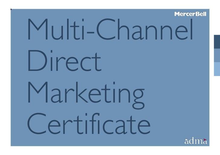 Multi-ChannelDirectMarketingCertificate