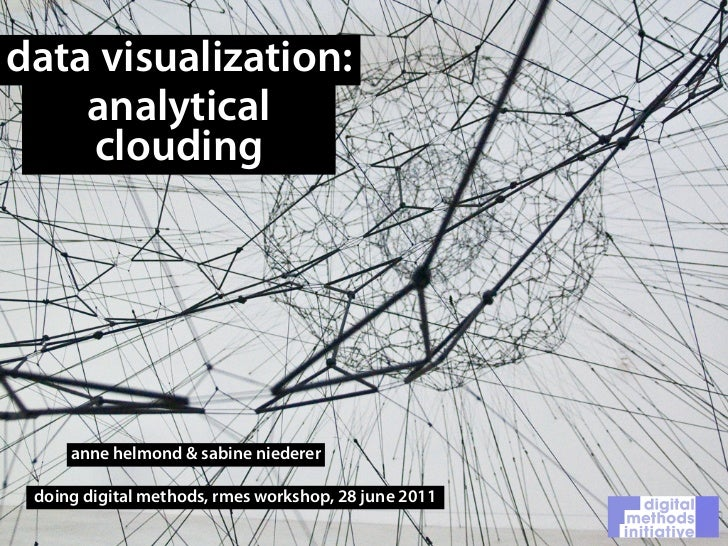 data visualization:    analytical    clouding     anne helmond & sabine niederer doing digital methods, rmes workshop, 28 ...