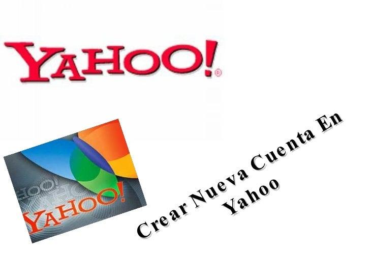 Crear Nueva Cuenta En Yahoo