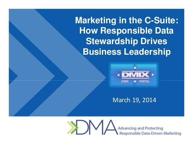Marketing in the C-Suite: How Responsible Data Stewardship Drives Business Leadership March19,2014