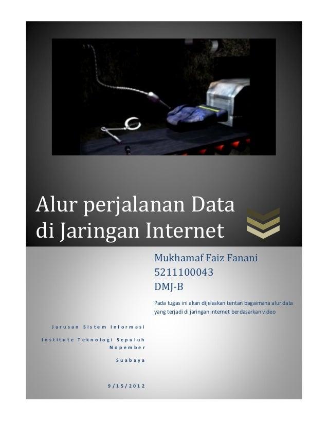 Alur perjalanan Datadi Jaringan Internet                              Mukhamaf Faiz Fanani                              52...