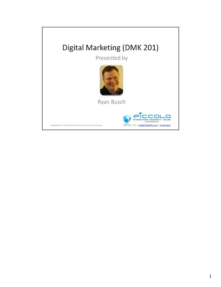 Dmk201 Lecture 1