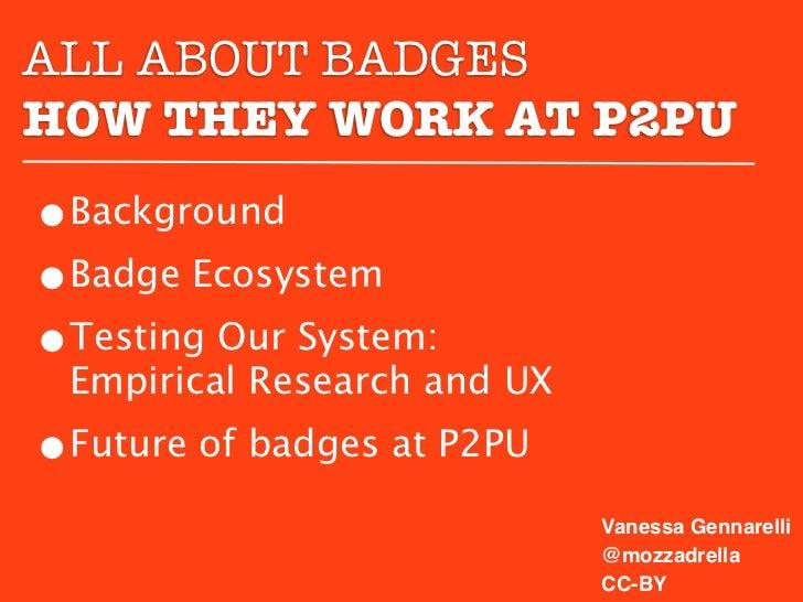 Badges at P2PU