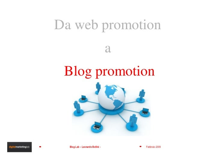 Da web promotion  a  Blog promotion