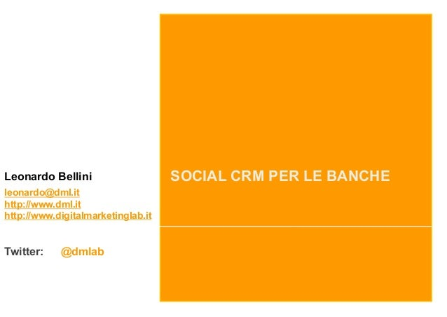 Social CRM per le Banche