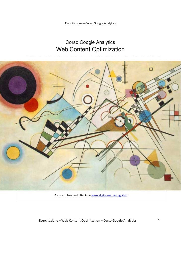 Esercitazione–CorsoGoogleAnalytics                      Corso Google Analytics               Web Content Optimizati...