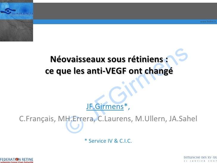 DMLA : ce que les anti-VEGF ont change