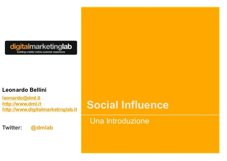 Social Influence Introduction