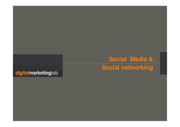 Social Media & Social networking