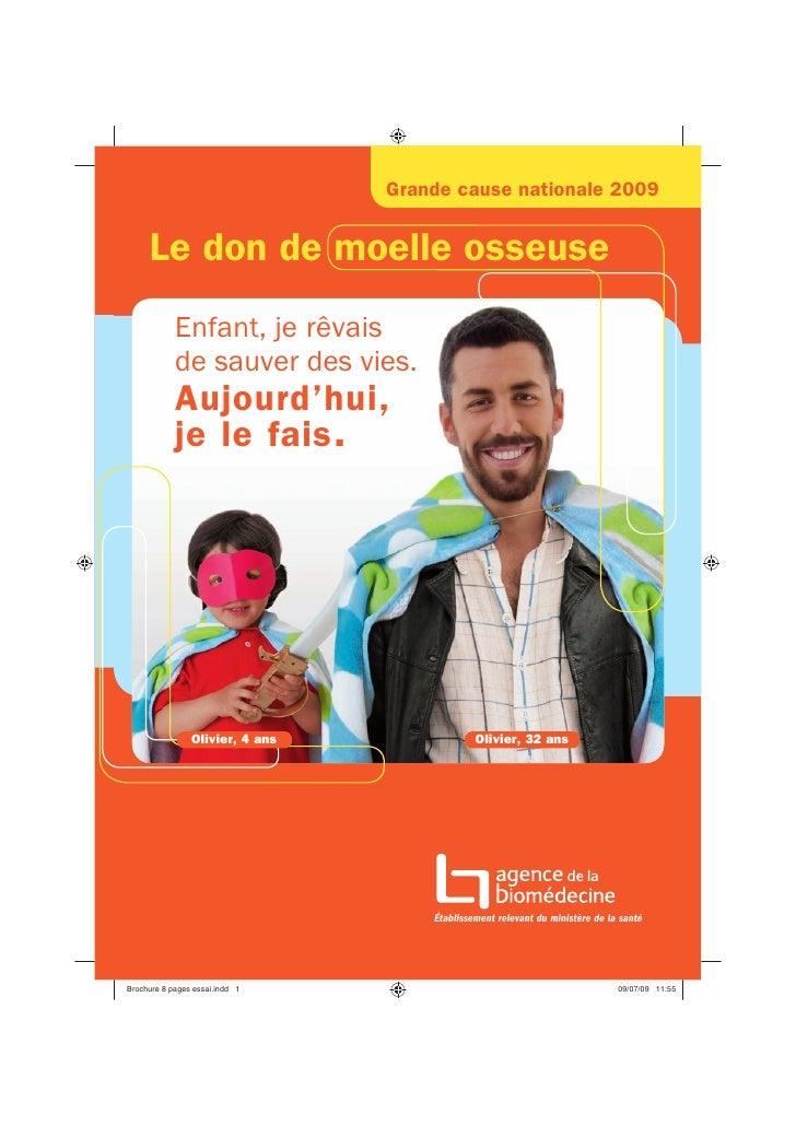 DMO 50 - La brochure d'information - Don de moelle osseuse - Agence de la biomédecine (French)