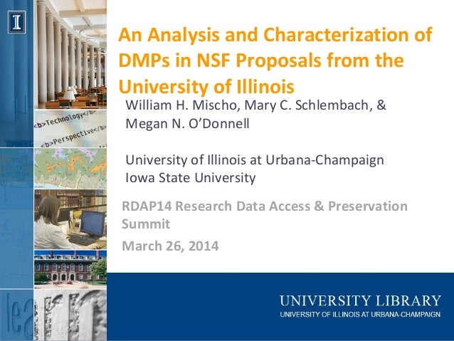 An analysis and characterization of DMPs in NSF proposals from the University of Illinois (#RDAP14)
