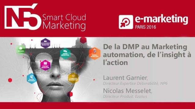 Marketing Smart Cloud De la DMP au Marketing automation, de l'insight à l'action Laurent Garnier, Directeur Expertise Déli...