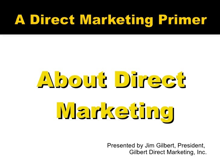 Direct Marketing Primer
