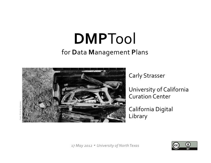 The DMPTool: A Resource for Data Management Planning
