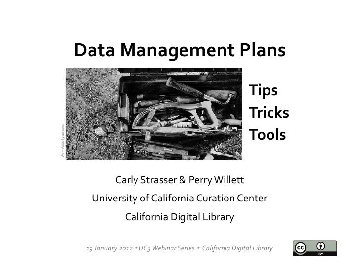 Data Management Planning and the DMPTool