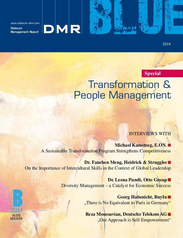 DMR BLUE TRANSFORMATION & PEOPLEMANAGEMENT (FOKUS: GLOBAL LEADERSHIP)
