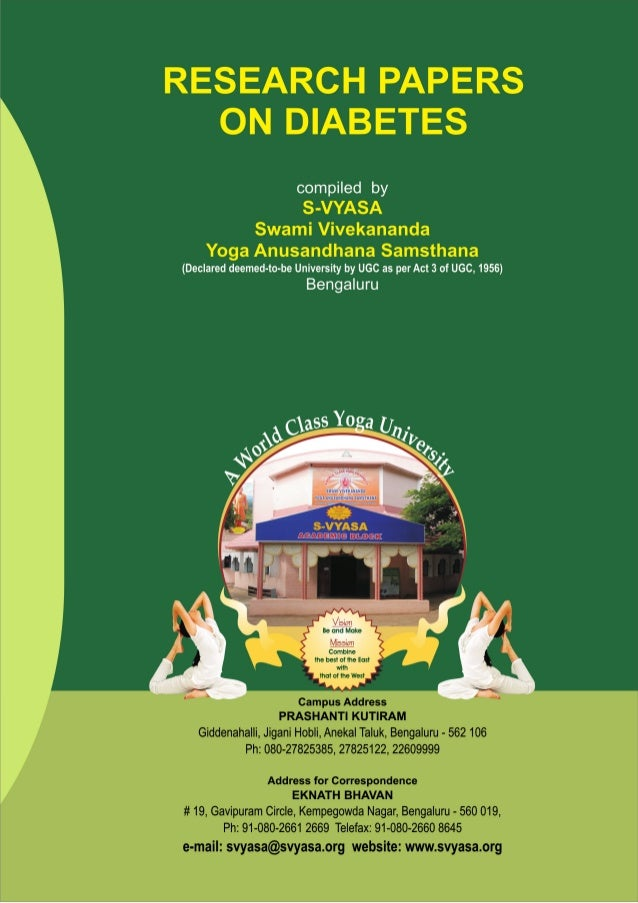 CONTENTES Page No 1.  Yoga therapy for NIDDM: a controlled trial. R, Monro., J, Power., A, Coumar., R, Nagarathna. and P, ...