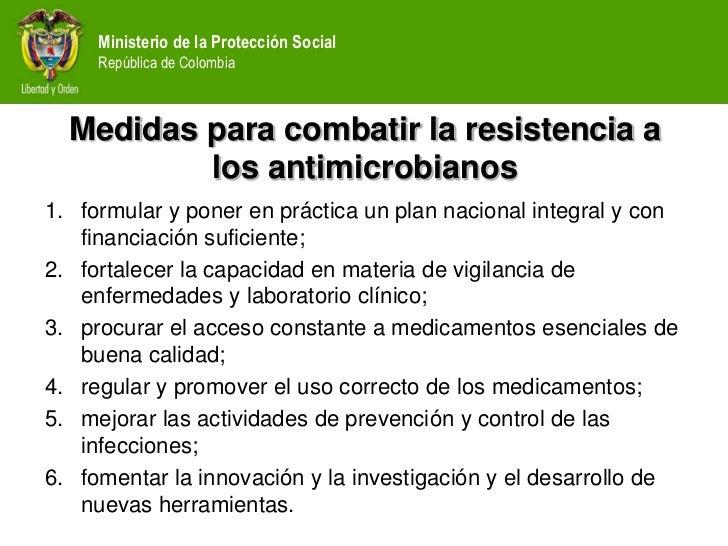 Medidas para combatir la resistencia antimicrobiana
