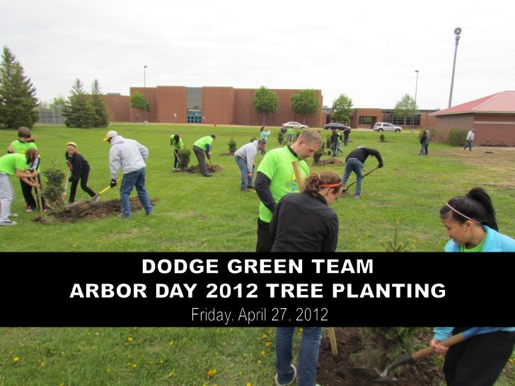 City of Farmington staff explained the process and procedures for      tree planting. The group had 15 spruce trees to pla...