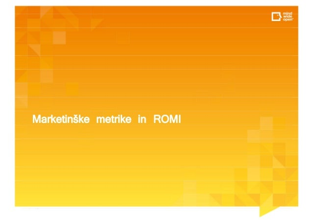 Marketinške metrike in ROMI
