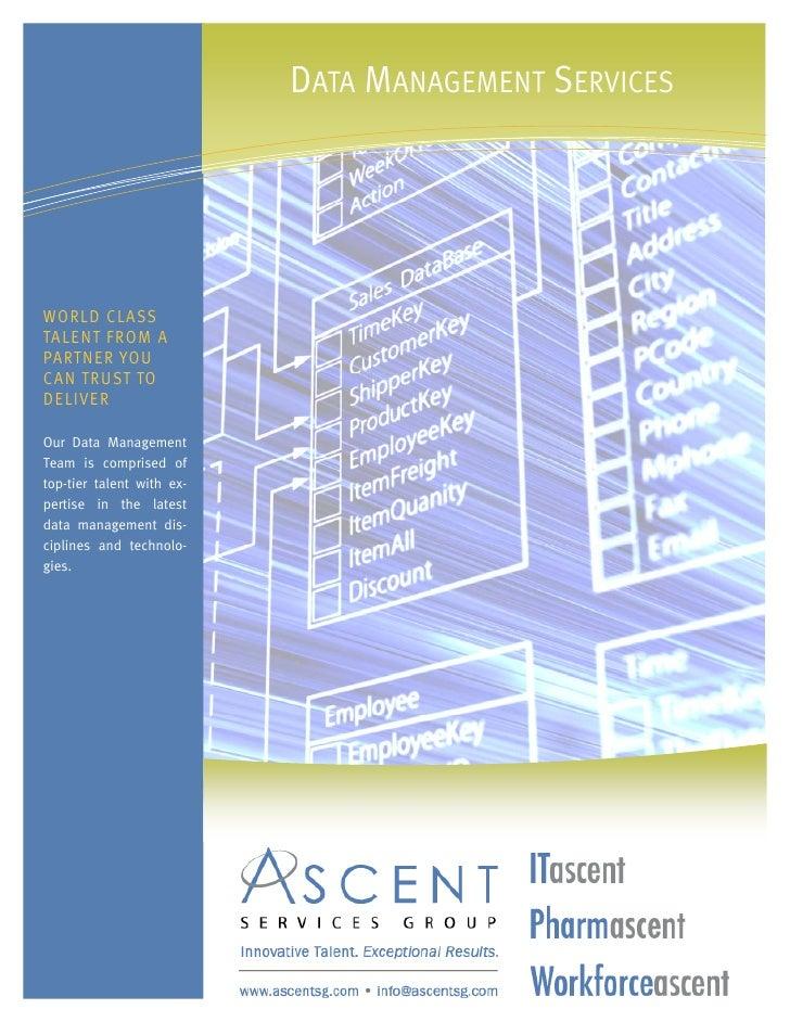ASG - Data Management Services