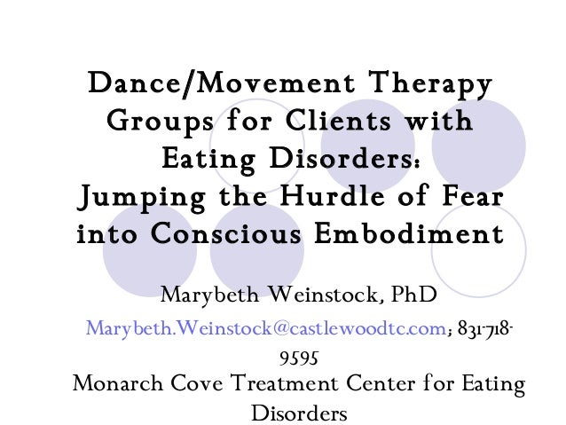 Dance/Movement Therapy  Groups for Clients with     Eating Disorders:Jumping the Hurdle of Fearinto Conscious Embodiment  ...