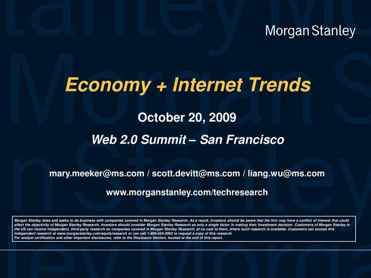 Economy & Internet Trends - Morgan Stanley Presentation